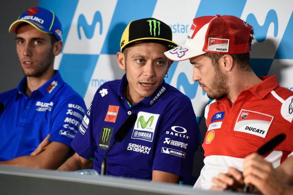 2017 MotoGP Championship - Round 14 Aragon, Spain. Thursday 21 September 2017 Valentino Rossi, Yamaha Factory Racing World Copyright: Gold and Goose / LAT Images ref: Digital Image 693403