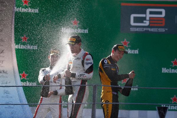 2017 GP3 Series Round 6.  Autodromo Nazionale di Monza, Monza, Italy. Sunday 3 September 2017. George Russell (GBR, ART Grand Prix), Jack Aitken (GBR, ART Grand Prix), Anthoine Hubert (FRA, ART Grand Prix).  Photo: Sam Bloxham/GP3 Series Media Service. ref: Digital Image _W6I4503