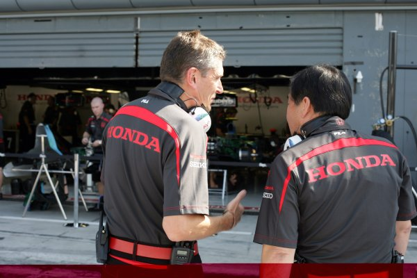 2007 Italian Grand Prix - Saturday QualifyingAutodromo di Monza, Monza, Italy.8th September 2007.Nick Fry, CEO, Honda GP, with Yasuhiro Wada, Chairman, Honda Racing F1 Team. Portrait. World Copyright: Steven Tee/LAT Photographicref: Digital Image YY2Z8494