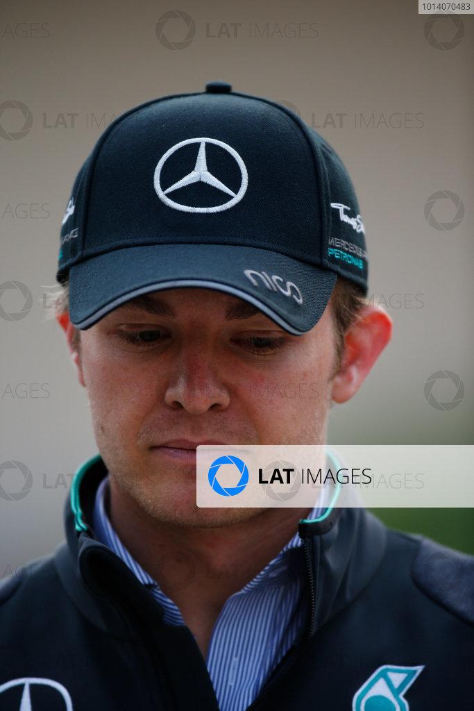 2014 F1 Pre Season Test 2 - Day 3 Bahrain International Circuit, Bahrain. Saturday 22 February 2014. Nico Rosberg, Mercedes AMG. World Copyright: Glenn Dunbar/LAT Photographic. ref: Digital Image _W2Q4694
