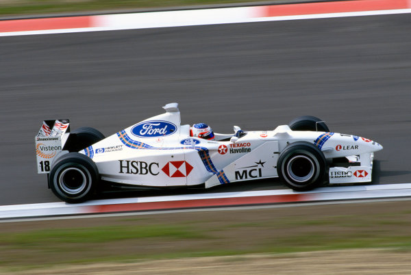 Nurburgring, Germany. 25th - 27th September 1998.Rubens Barrichello (Stewart SF2-Ford), 11th position, action. World Copyright: LAT Photographic.Ref:  Colour Transparency.