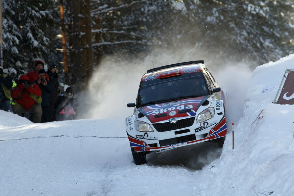 Round 01-Rally Sweden. 10th-13th February 2011.Eyvind Brynildsen, Skoda  PWRC, Action.Worldwide Copyright: McKlein/LAT