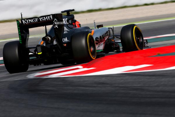 Circuit de Catalunya, Barcelona, Spain. Wednesday 13 May 2015. Esteban Ocon, Force India VJM08 Mercedes.  World Copyright: Alastair Staley/LAT Photographic. ref: Digital Image _79P5214