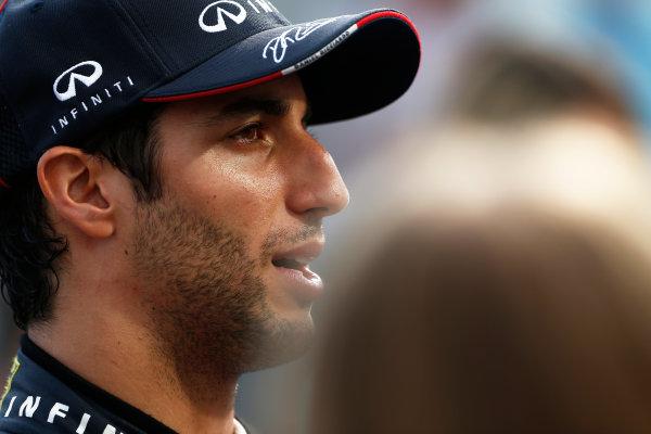 Hungaroring, Budapest, Hungary. Sunday 27 July 2014. Daniel Ricciardo, Red Bull Racing, 1st Position. World Copyright: Sam Bloxham/LAT Photographic. ref: Digital Image _SBL1346