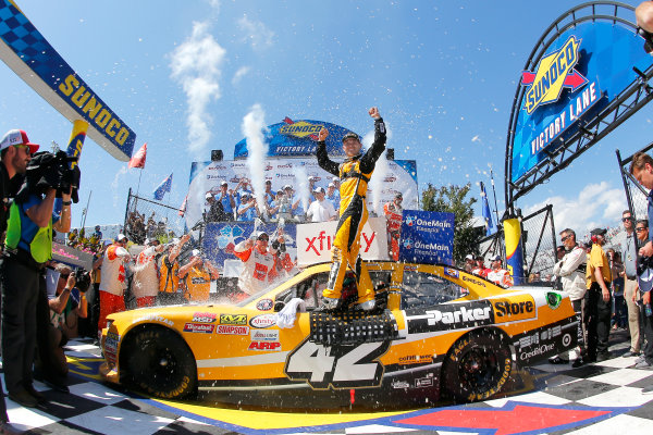 NASCAR XFINITY Series One Main Financial 200 Dover International Speedway, Dover, DE USA Saturday 3 June 2017 Kyle Larson, ParkerStore Chevrolet Camaro  celebrates in victory lane World Copyright: Russell LaBounty LAT Images ref: Digital Image 17DOV1rl_02031