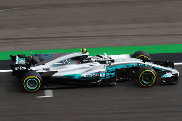 Silverstone, Northamptonshire, UK.  Friday 14 July 2017. Valtteri Bottas, Mercedes F1 W08 EQ Power+.  World Copyright: LAT Images  ref: Digital Image MALC4394