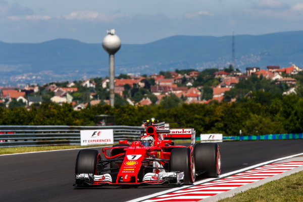 Hungaroring, Budapest, Hungary.  Friday 28 July 2017. Kimi Raikkonen, Ferrari SF70H. World Copyright: Andy Hone/LAT Images  ref: Digital Image _ONY9475