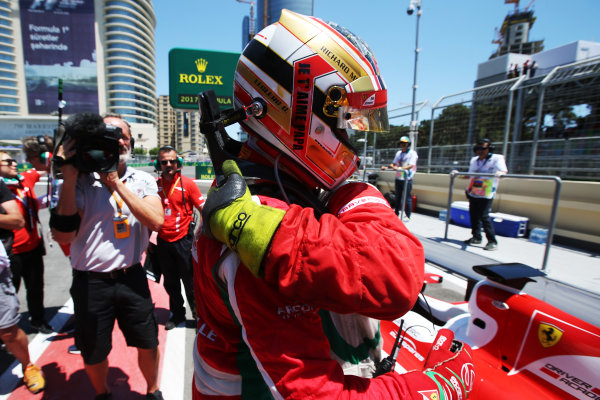2017 FIA Formula 2 Round 4. Baku City Circuit, Baku, Azerbaijan. Saturday 24 June 2017. Charles Leclerc (MCO, PREMA Racing)  Photo: Charles Coates/FIA Formula 2. ref: Digital Image AX0W9477