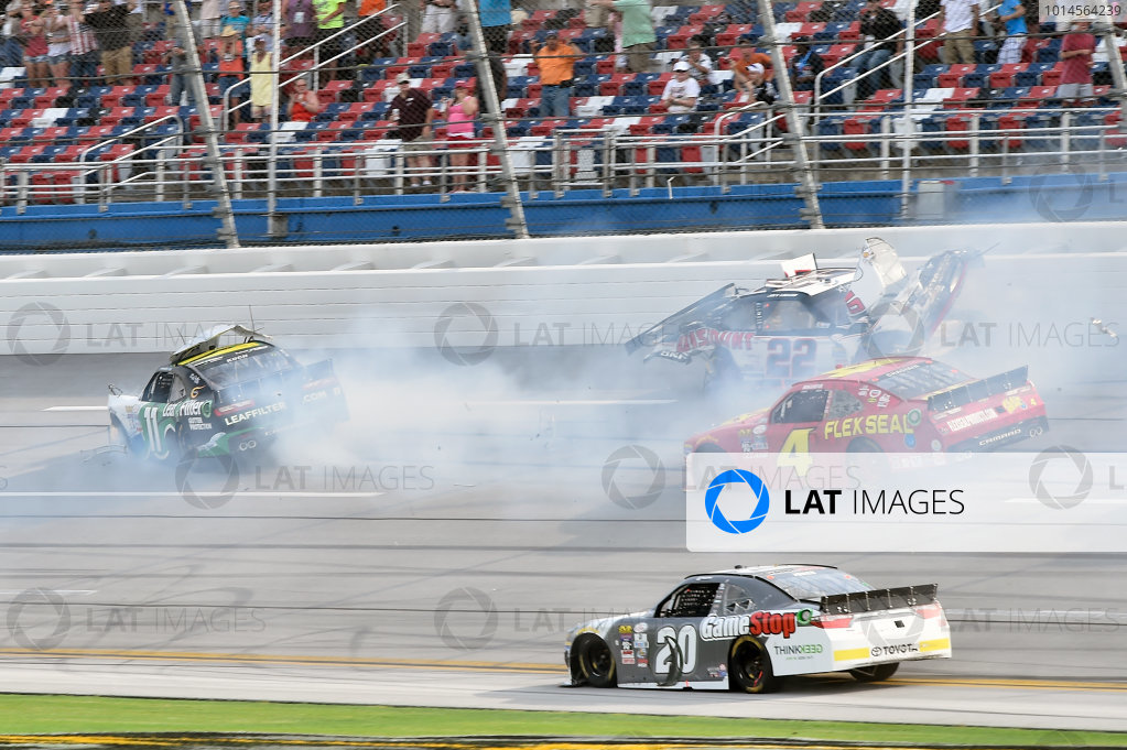 29-30 April, 2016, Talladega, Alabama USA  Blake Koch (11) wrecks with Joey Logano (22) ?2016, John Harrelson / LAT Photo USA