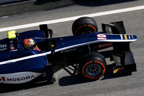 2016 GP2 Series Test 1. Circuit de Catalunya, Barcelona, Spain. Friday 11 March 2016. Artem Markelov (RUS, RUSSIAN TIME)  World Copyright: Sam Bloxham/LAT Photographic. ref: Digital Image _R6T9143