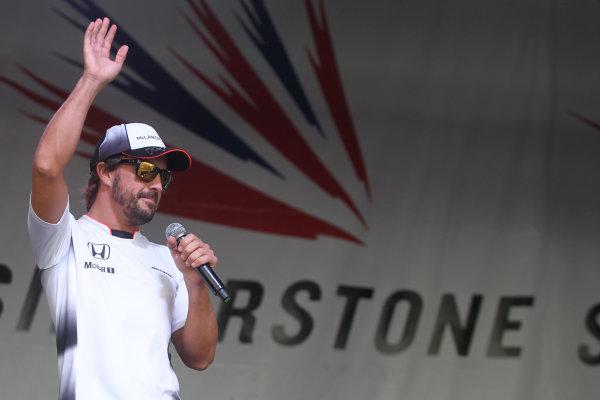 Round 10 - British Grand Prix, Silverstone, Northamptonshire, UK Sunday 10 July 2016. Fernando Alonso (ESP) McLaren Honda World Copyright: Jakob Ebrey/LAT Photographic