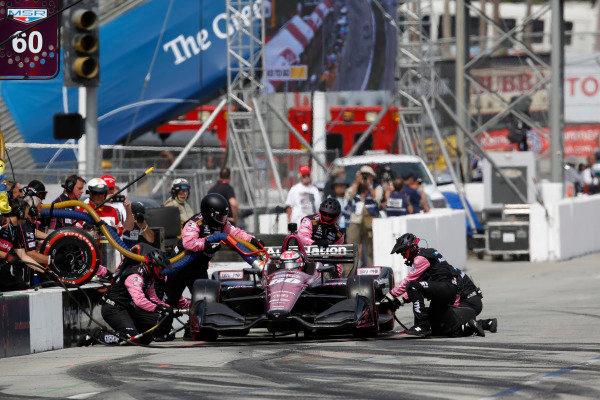 Jack Harvey, Meyer Shank Racing with Schmidt Peterson Honda, pit stop