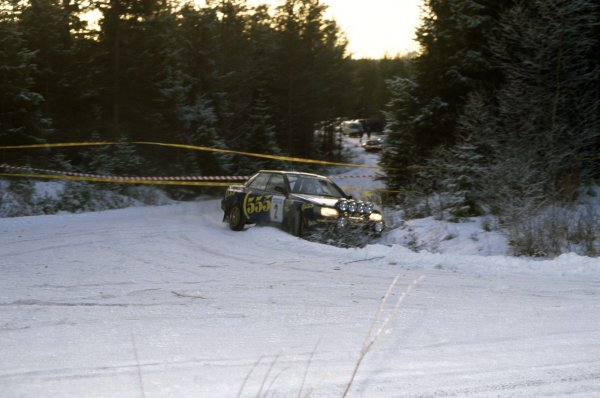 1993 World Rally Championship.Swedish Rally, Sweden. 12-14 February 1993.Colin McRae/Derek Ringer (Subaru Legacy RS), 3rd position.World Copyright: LAT PhotographicRef: 35mm transparency 93RALLY18
