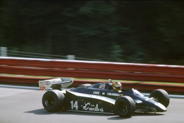 1982 Austrian Grand Prix.Osterreichring, Austria. 15 August 1982.Roberto Guerrero, Ensign N181-Ford, retired, action.World Copyright: LAT PhotographicRef: 35mm transparency 82AUT54