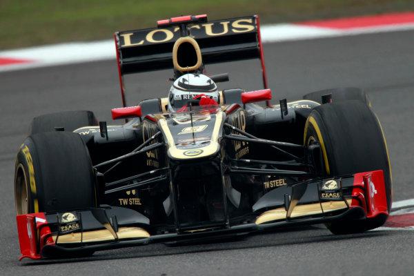 Shanghai International Circuit, Shanghai, China13th April 2012Kimi Raikkonen, Lotus E20 Renault. World Copyright:Andrew Ferraro/LAT Photographicref: Digital Image _Q0C2379