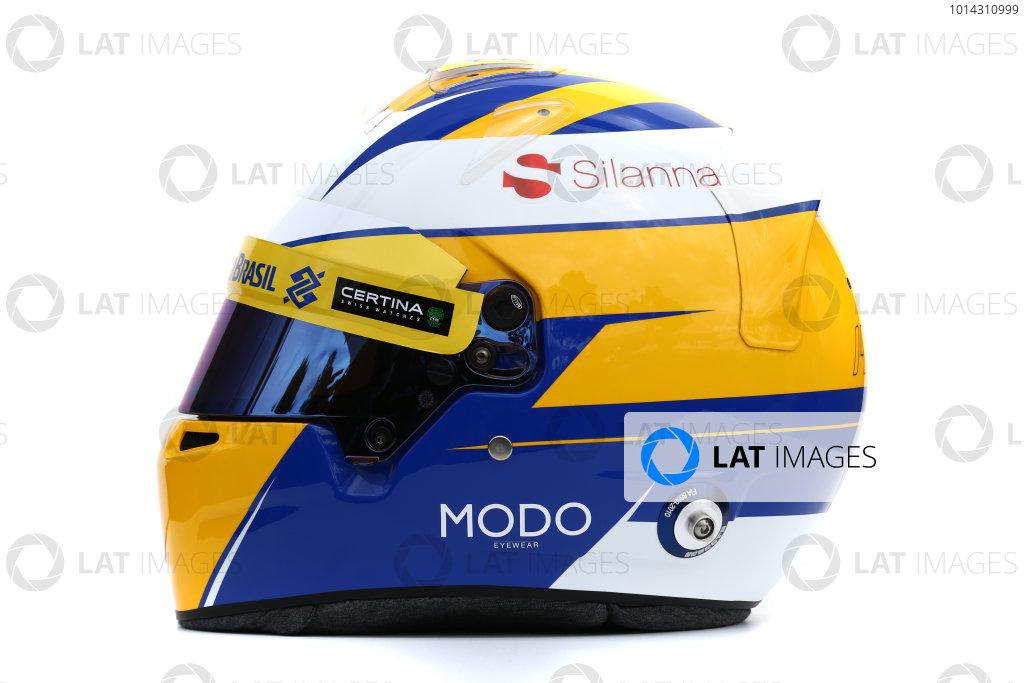 Albert Park, Melbourne, Australia. Helmet of Marcus Ericsson, Sauber.  Thursday 12 March 2015. World Copyright: LAT Photographic. ref: Digital Image 2015_Helmet_023