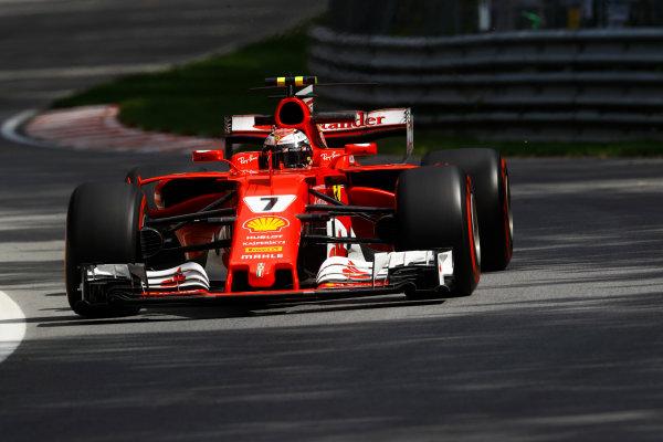 Circuit Gilles Villeneuve, Montreal, Canada. Friday 09 June 2017. Kimi Raikkonen, Ferrari SF70H. World Copyright: Steven Tee/LAT Images ref: Digital Image _O3I9080