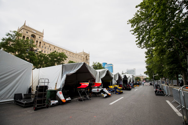 2017 FIA Formula 2 Round 4. Baku City Circuit, Baku, Azerbaijan. Thursday 22 June 2017. A view of the paddock. Photo: Zak Mauger/FIA Formula 2. ref: Digital Image _54I9033