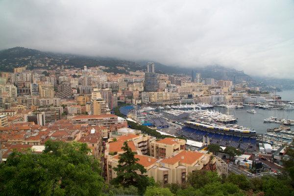 2014/2015 FIA Formula E Championship. Monaco Scenery. Thursday Set-Up. Monaco ePrix, Monte Carlo, Monaco, Europe. Thursday 7 May 2015  Photo: Adam Warner/LAT/Formula E ref: Digital Image _L5R7940