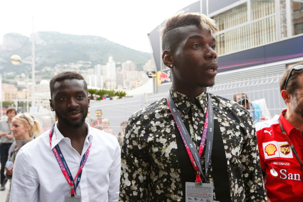 Monte Carlo, Monaco. Sunday 24 May 2015. Paul Pogba of Juventus visits the paddock. World Copyright: Alastair Staley/LAT Photographic. ref: Digital Image _79P7020