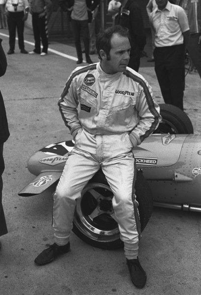 1970 German Grand Prix. Hockenheim, Germany. 31st July - 2nd August 1970. Peter Gethin (McLaren M14A-Ford), retired, portrait.  World Copyright: LAT Photographic. Ref: 3235 - 26A.