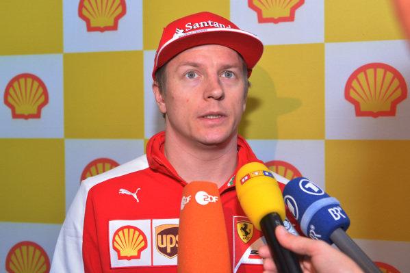 Kimi Raikkonen (FIN) Ferrari at a Shell refuel event at Formula One World Championship, Rd1, Australian Grand Prix, Preparations, Albert Park, Melbourne, Australia, Thursday 12 March 2015.