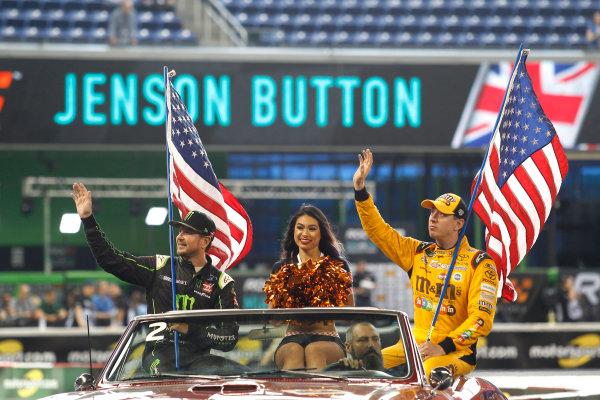 2017 Race of Champions Miami, Florida, USA Sunday 22 January 2017 Kurt Busch and Kyle Busch, Team USA NASCAR World Copyright: Alexander Trienitz/LAT Photographic ref: Digital Image 2017-RoC-MIA-AT2-1896