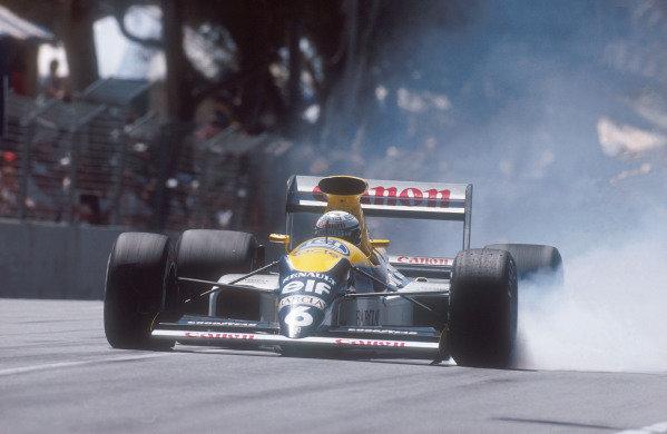 1990 Australian Grand Prix.Adelaide, Australia.2-4 November 1990.Riccardo Patrese (Williams FW13B Renault) 6th position.Ref-90 AUS 22.World Copyright - LAT Photographic