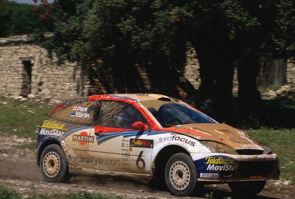 World Rally ChampionshipCyprus Rally, Cyprus. 18th - 21st April 2002. Markko Martin / Michael Park, Ford Focus RS WRC 02. 8th position overall.World Copyright: McKlein/LAT Photographicref: 35mm Image A09