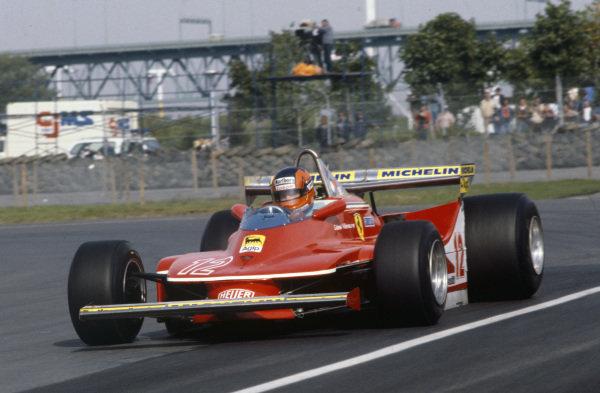 Gilles Villeneuve, Ferrari 312T4.