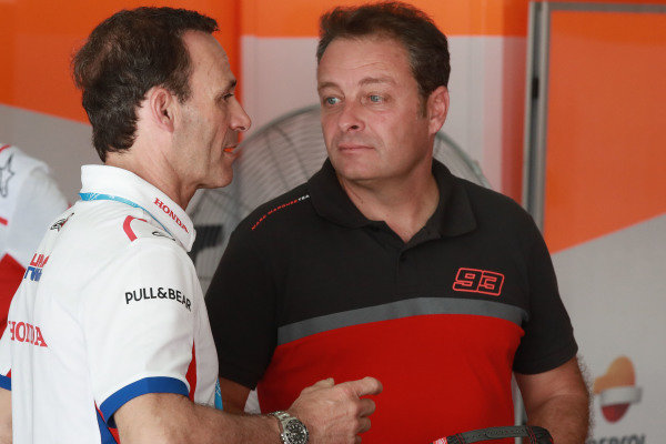 Alberto Puig, Repsol Honda Team Principal, Emilio Alzamora.