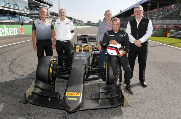 AUTODROMO NAZIONALE MONZA, ITALY - SEPTEMBER 07: Jean Alesi tests the new Pirelli 18 inch tyres for next seasons F2 Car during the Monza at Autodromo Nazionale Monza on September 07, 2019 in Autodromo Nazionale Monza, Italy. (Photo by Steven Tee / LAT Images / FIA F2 Championship)