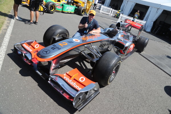 """A line-up of """"Best of British"""" racing cars, including classic McLarens"""