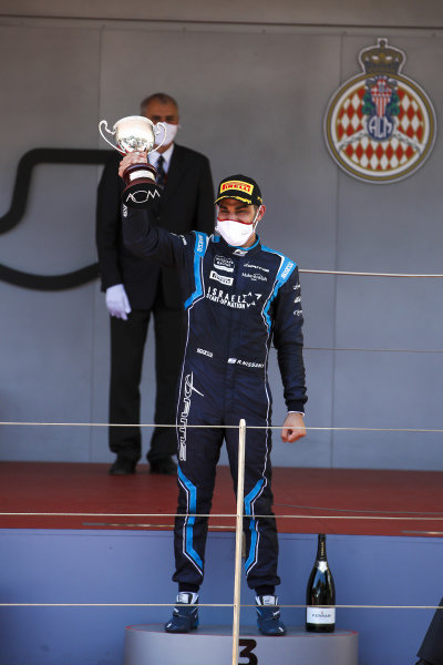 Roy Nissany (ISR, DAMS) celebrates on the podium with the trophy