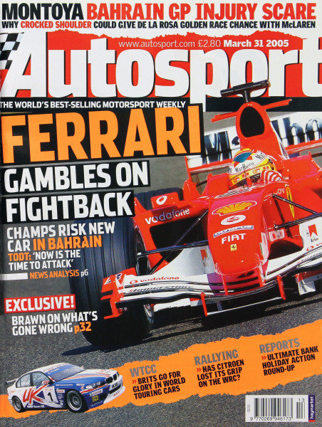 Cover of Autosport magazine, 31st March 2005