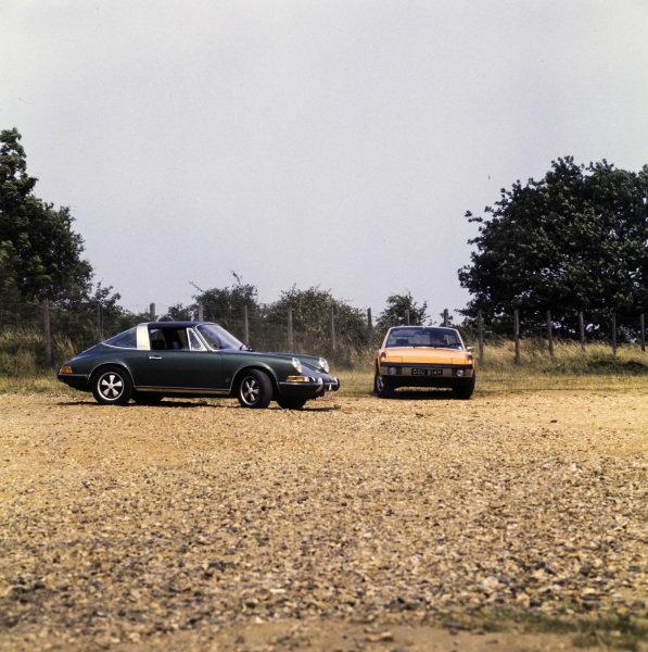 Porsche 911E (left) and 914 (right)