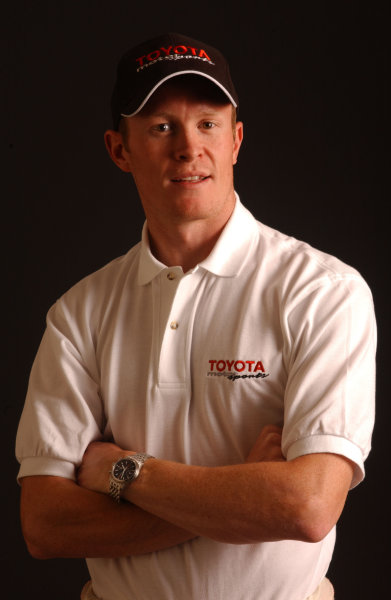 2003 IRL Test in the West.California Speedway, Fontana, California, USA.3-4 February 2003. Scott Dixon (Chip Ganassi Racing) wearing a Toyota shirt and cap.World Copyright - Phil Sedgwick/LAT Photographic