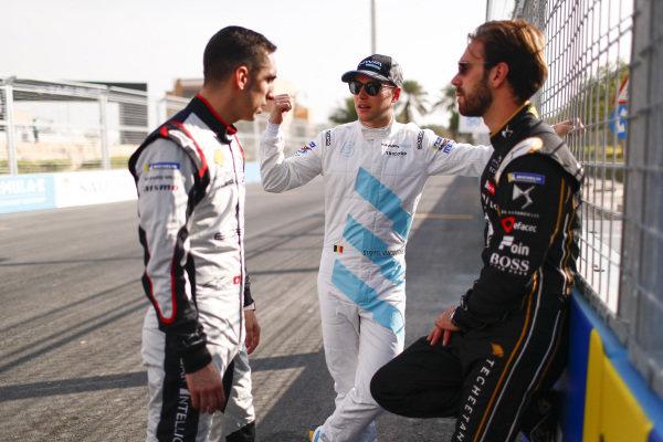 Sébastien Buemi (CHE), Nissan e.Dams, Stoffel Vandoorne (BEL), HWA Racelab, and Jean-Eric Vergne (FRA), DS TECHEETAH