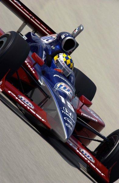 2003 IRL IndyCar Homestead, 2/28-3/2,2003, Homestead-Miami Speedway, USA Kenny Brack speeds into turn three.World Copyright-F Peirce Williams 2003 LAT Photographicref: Digital Image Only