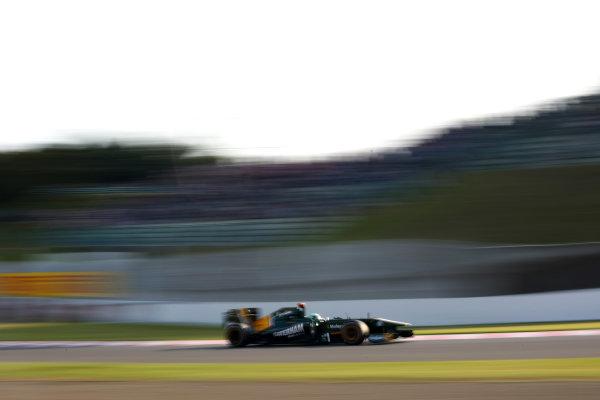 Suzuka Circuit, Suzuka, Japan.7th October 2011.Heikki Kovalainen, Lotus T128 Renault. Action. World Copyright: Andy Hone/LAT Photographicref: Digital Image CSP24186