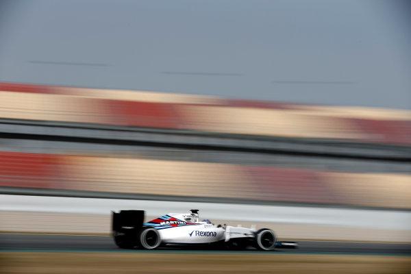 Circuit de Catalunya, Barcelona, Spain Monday 22 February 2016. Valtteri Bottas, Williams FW38 Mercedes. World Copyright: Glenn Dunbar/LAT Photographic ref: Digital Image _89P4164