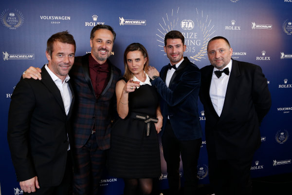 2015 FIA Prize Giving Paris, France Friday 4th December 2015 Sebastien Loeb, Yvan Muller, Yves Matton, Jose Maria Lopez and Marie Pierre Rossi, portrait  Photo: Copyright Free FOR EDITORIAL USE ONLY. Mandatory Credit: FIA / Jean Michel Le Meur  / DPPI ref: _ML23434