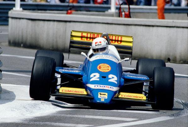 1986 Monaco Grand Prix. Monte Carlo, Monaco. 8-11 May 1986. Christian Danner (Osella FA1F Alfa Romeo). Ref-86 MON 69. World Copyright - LAT Photographic