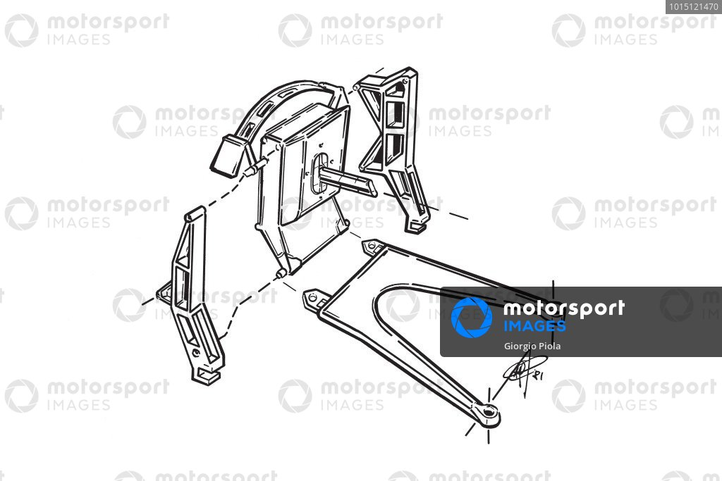 McLaren MP4 1981 rear upright assembly