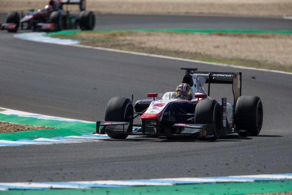 2017 FIA Formula 2 Round 10. Circuito de Jerez, Jerez, Spain. Saturday 7 October 2017. Nabil Jeffri (MAS, Trident).  Photo: Andrew Ferraro/FIA Formula 2. ref: Digital Image _FER2016