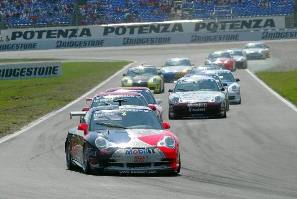 Wolf Henzler (GER) Aqua Nova Racing Team Kadach.Porsche Supercup, Rd8, Hockenheim, Germany,3 August 2003.DIGITAL IMAGE