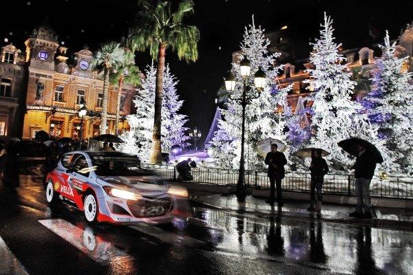 Dani Sordo (ESP) / Marc Marti (ESP), Hyundai i20 WRC. FIA World Rally Championship, Rd1, Rally Monte Carlo, Preparatons, Monte Carlo, 13-15 January 2014.