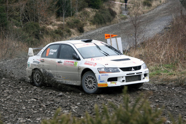 Bulldog Rally, Wales 28th March,Jonathan Greer/Antony O'Conaill - Mitsubishi Lancer Evo 9World Copyright: Ebrey/LAT Photographic