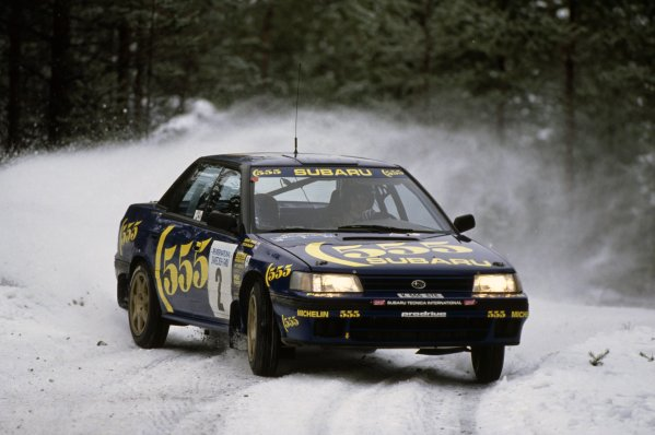 1993 World Rally Championship.Swedish Rally, Sweden. 12-14 February 1993.Colin McRae/Derek Ringer (Subaru Legacy RS), 3rd position.World Copyright: LAT PhotographicRef: 35mm transparency 93RALLY22