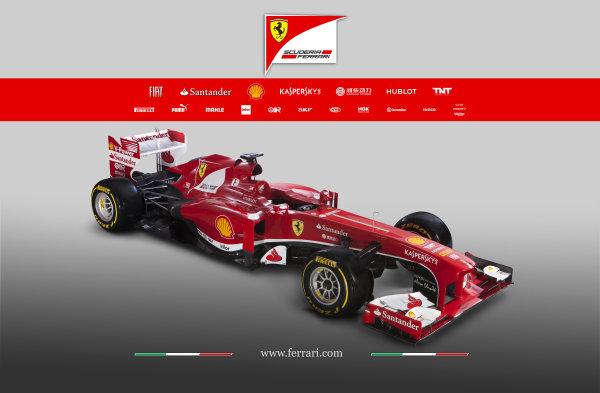 Maranello, Italy   The new Ferrari F138. Studio image. Photo: Ferrari (  ref: Digital Image 130002_f138